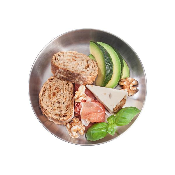 Tatonka Picnic Plate - Edelstahl Teller Camping Teller mit Essen