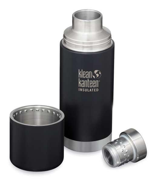 Klean Kanteen TKPRO Insulated Isolierkanne Schwarz Matt offen 0,75 L