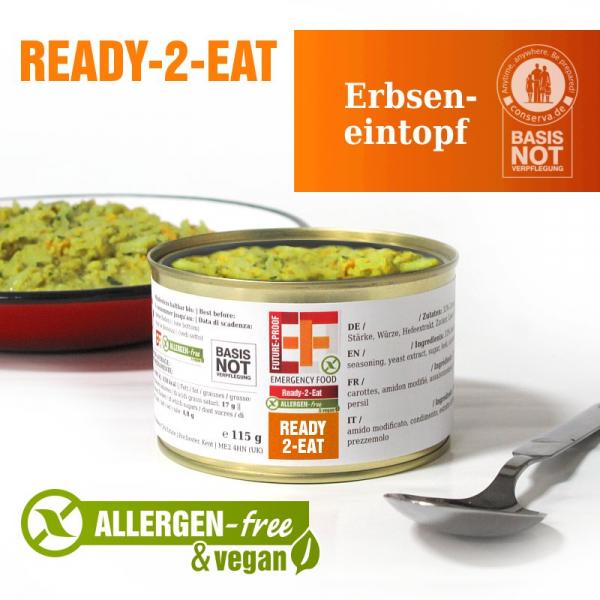 EF Ready-2-Eat Erbseneintopf (400g) - Langzeitlebensmittel allergenfrei