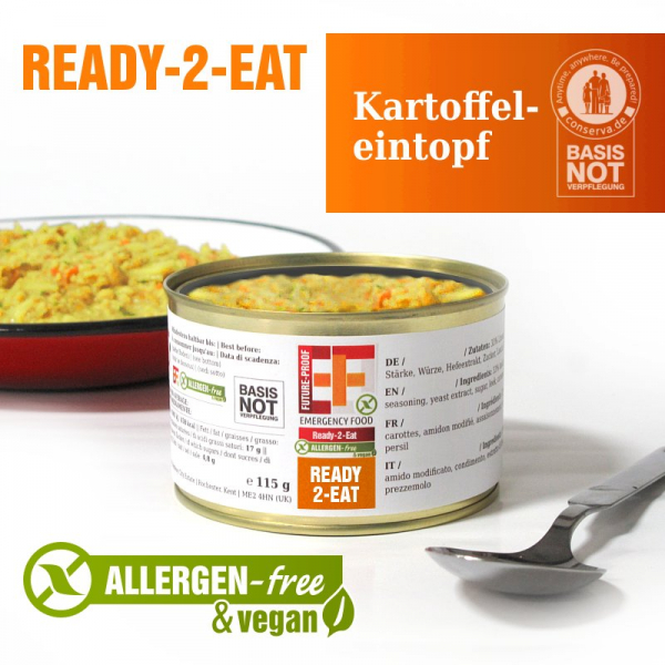EF Ready-2-Eat Kartoffeleintopf (400g) - Langzeitlebensmittel allergenfreI