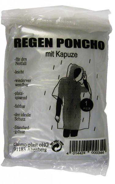 WUNDmed Notfall-RegenPoncho mit Kapuze