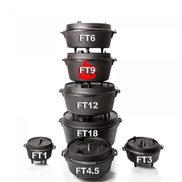 Petromax Feuertopf (Dutch Oven) mit Füssen verschiedene Größen
