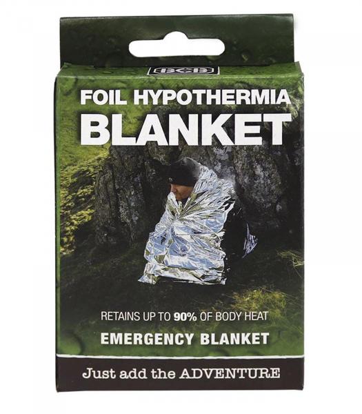 Erste Hilfe Silber Rettungsdecke - Foil Hypothermia Blanket