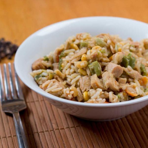 Huhn mit gebratenem Reis Menü