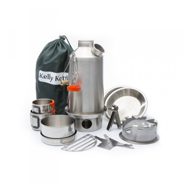 "Original Kelly Kettle Sturmkanne Edelstahl ""Ultimative Kit"""