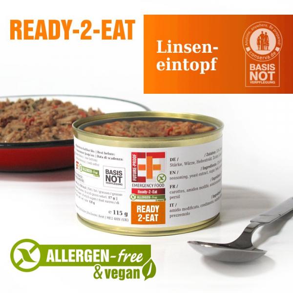 EF Ready-2-Eat Linseneintopf (400g) - Langzeitlebensmittel allergenfrei