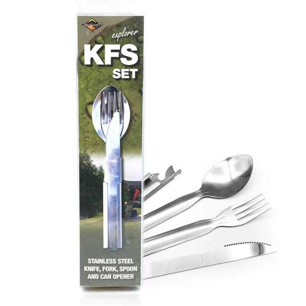 BCB Gabel Messer Löffel Set mit Dosenöffner KFS mit Verpackung