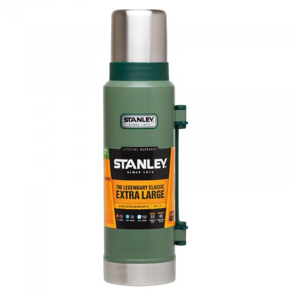 Stanley Vakuum Thermoskanne Isolierflasche Hammertone Green Edelstahl Banderole 1 Liter