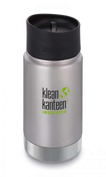 Vakuumisolierte Trinkflaschen von Klean Kanteen WIDE 355ml Café Cap Edelstahl gebürstet