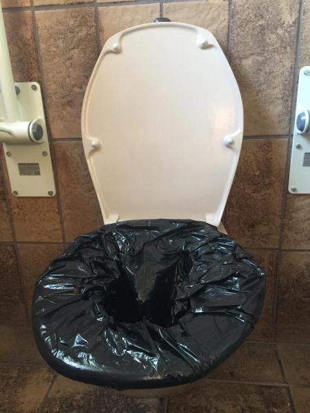 Toilettenbeutel 60 L mit Fixierband