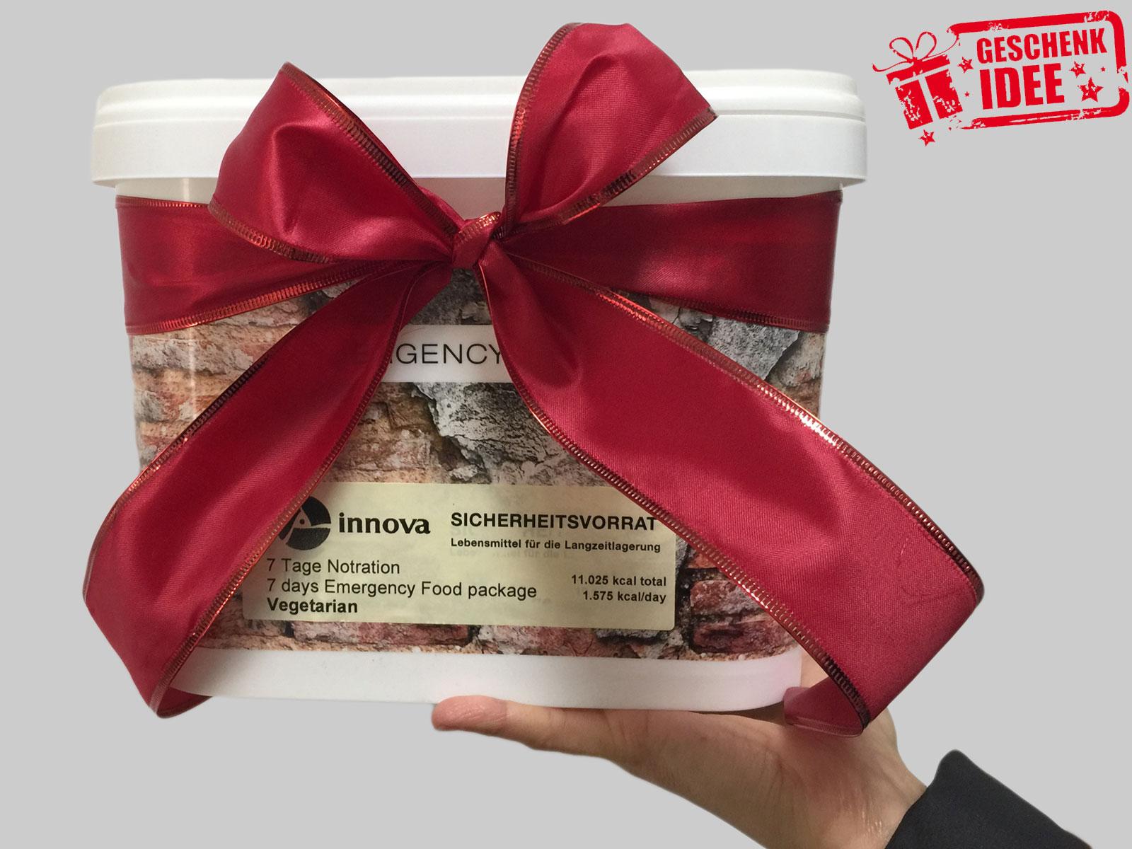 Originelles Weihnachtsgeschenk mal anders - Notvorrat zu Weihnachten
