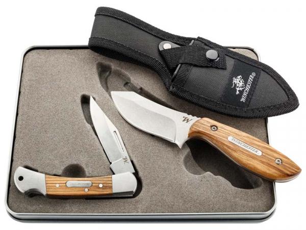 WINCHESTER Geschenkbox 2 Messer Geschenkset inkl. Gürteltasche