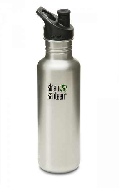 Brushed Stainless mit Sport Cap 800ml
