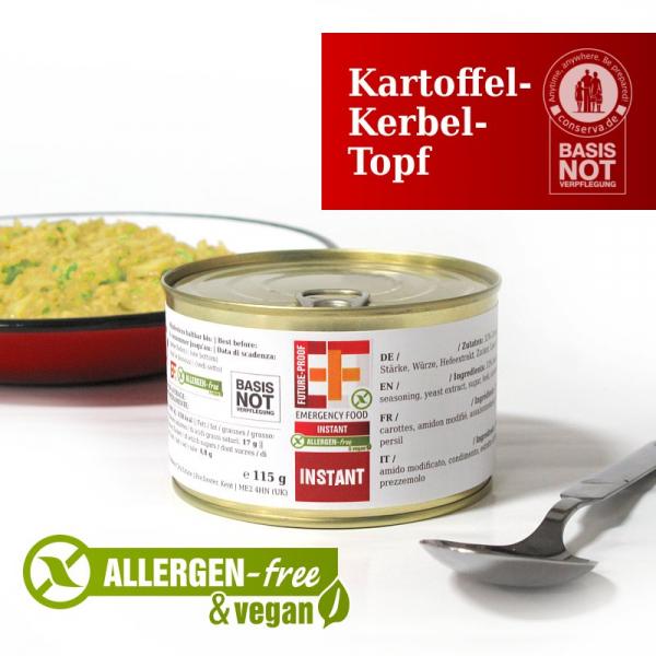 EF SUS Kartoffel-Kerbel-Topf (125g) - Langzeitlebensmittel allergenfrei