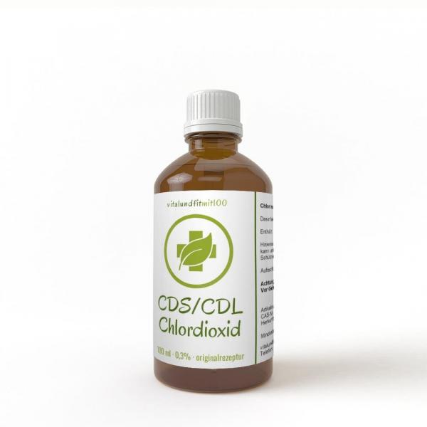 Chlordioxidlösung CDL / CDS 0,3% 100 ml Braunglas