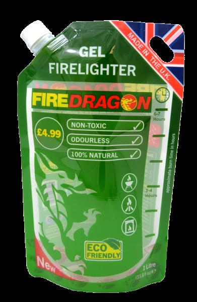 BCB Fire Dragon Brenngel Biokraftstoff  1 Liter NEU IM BEUTEL