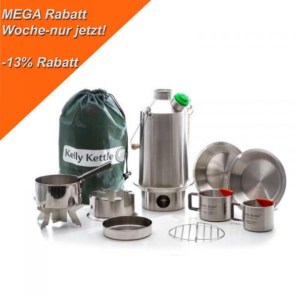 Kelly Kettle Ulitmatives Kit Base Camp MEGA Rabatt -13%