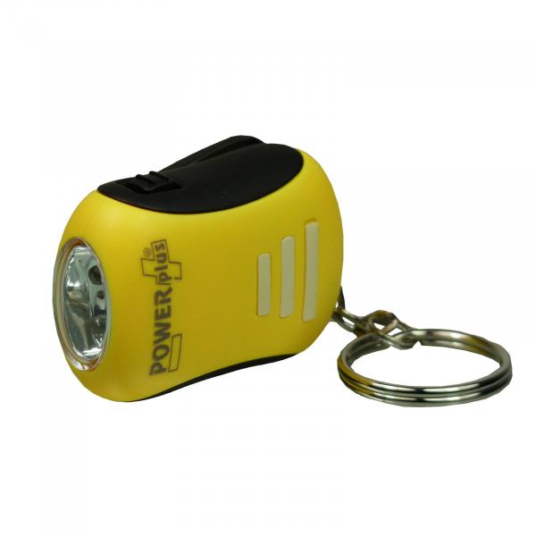 Mini Dynamo LED Taschenlampe BEE Kurbeltaschenlampe Schlüsselanhänger