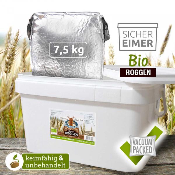 BIO Roggen (DE-ÖKO-006) 7,5kg keimfähig Notvorrat Krisenvorsorge