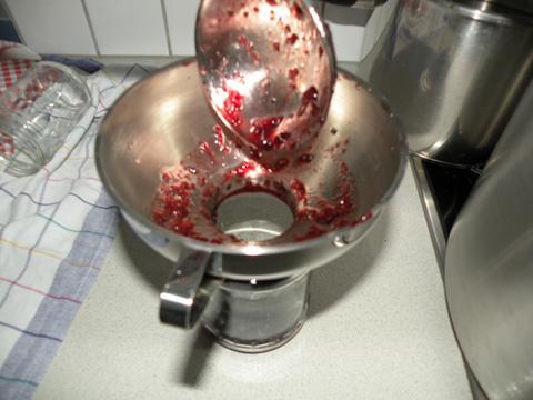Abfüllen der Marmelade