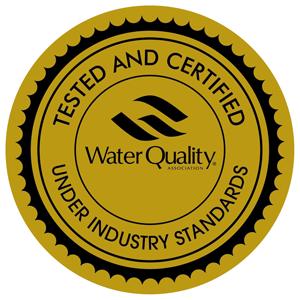 Goldenes Siegel für Wasserqualität von WQA