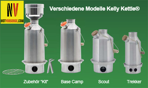 Verschiedene Modelle Kelly Kettle